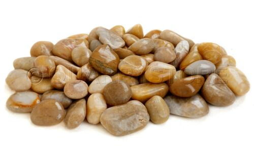 YELLOW POLISHED River pebbles 40-60mm Ideal for gardens and water features