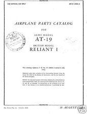 Stinson AT-19 Reliant Parts Service manual RARE 1940s WW2 historic archive UC-81
