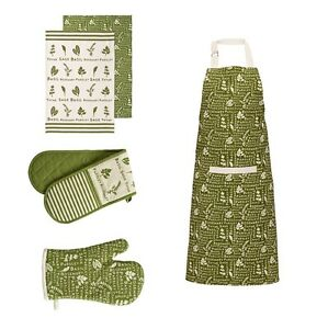 Image Is Loading Kendal Single Double Oven Glove Apron And Tea