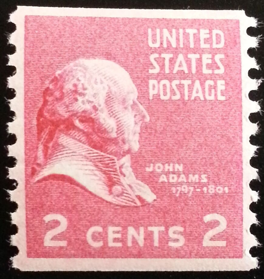1939 2c John Adams, Coil Scott 841 Mint F/VF NH