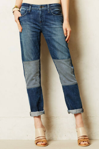 Pilcro Hyphen Patched Jeans Pants Size 26,27,28,29 Louloute NW ANTHROPOLOGIE Tag