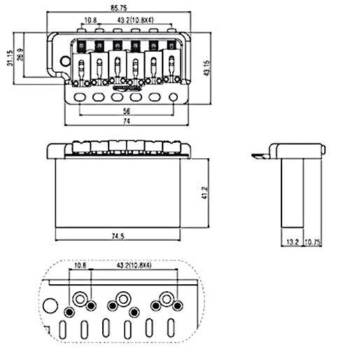 NEW Wilkinson WVP6NI SB Nickel Tremolo for Strat® STEEL BLOCK Vintage WVP6 SB NI