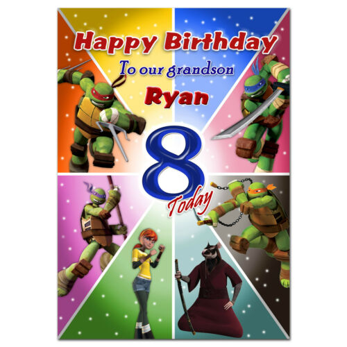 714; Personalised greeting card; TMNT Nick; Special great best big little