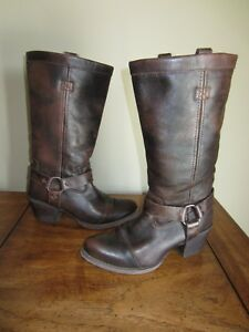 Durango Wo's Philly Harness Leather BOOTS 7 Dark Brown Western ...