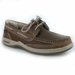 8839cd90ad11 Details about Men Margaritaville ANCHOR MG1301D Brown Rubber Sole Lace-Up  Oxford Boat Shoes