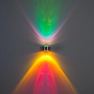 Wand Lampen Design Flur Strahler Wandleuchte Wohn Zimmer Leuchten grün magenta