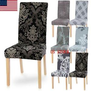 Details about New Removable Stretch Chair Covers Slipcovers Dining Room  Chair Cover Decor