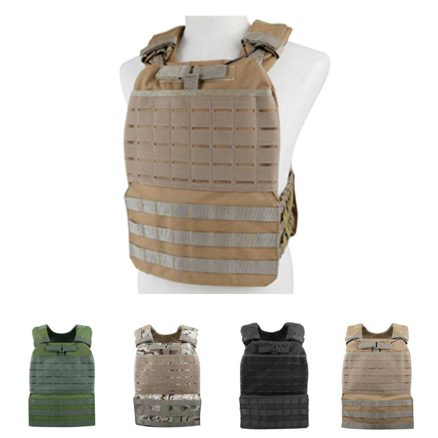 Wargame Plate Carrier Tactical Molle Vest Sentry Armor Airsoft Paintball Unisex