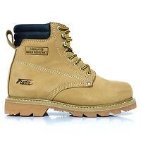 Men's Fuda Steel Toe Construction Oil & Water Resistant Work Boot Wheat