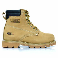 Men's Fuda Steel Toe Construction Oil & Water Resistant Work Boot Wheat