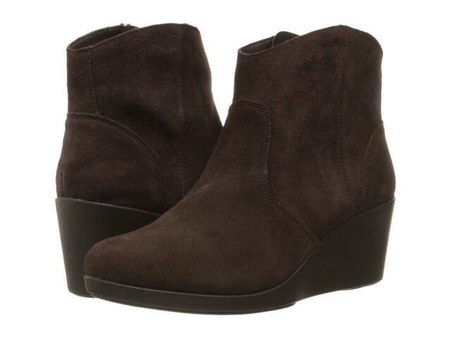Crocs Damenschuhe Leigh Suede M Wedge Boot Espresso 11 M Suede US     1f0ced