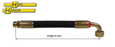 Länge wählbar Hydraulikschlauch 12-L  Außengewinde//90° NW10 metrisch