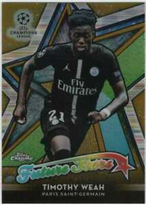 2018-19-Topps-Chrome-UEFA-Future-Stars-Refractor-Gold-50-FS-TW-Timothy-Weah