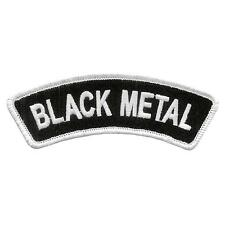 Black Metal - Patch Aufnäher - Banner gestickt 11x4cm