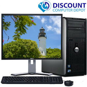 CLEARANCE-Fast-Dell-Desktop-Computer-PC-Core-2-Duo-WINDOWS-10-LCD-KB-MS
