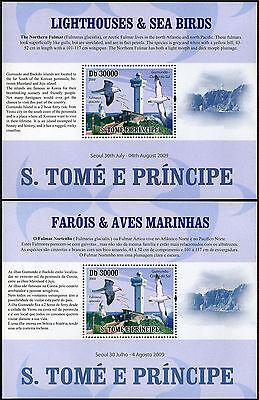 St Thomas & Prinz Inseln 2169e 2v,mnh.birds & Gumundo Leuchtturm,so.korea,2009 Dauerhaft Im Einsatz Briefmarken Architektur
