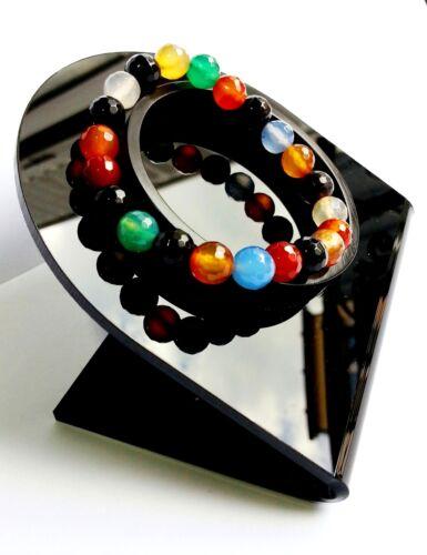 Bracelet en Pierre Naturelle Lithothérapie Minéral Quartz Multicolore Bijoux