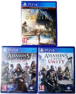 Assassins-Creed-PS4-giochi-Mega-Bundle-Unity-sindacato-origini-amp-Odyssey