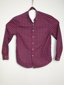 Men-039-s-Blue-amp-Red-Long-Sleeve-Check-Shirt-Size-L