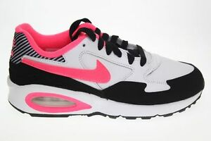 e5b3ce436077 Nike Air Max St (Gs) White Pink Black Girls  Trainers Shoes UK 3.5 4 ...