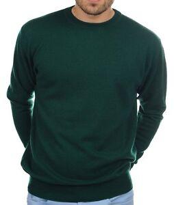 da inglese Pullover cashmere m cashmere in girocollo 100 uomo verde 00xFw5qC