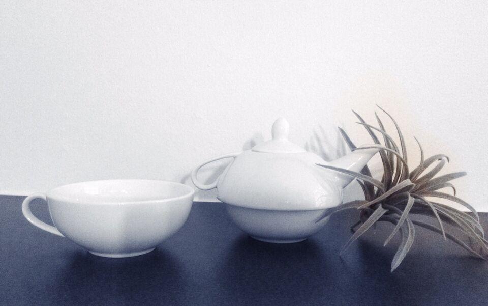 Porcelæn, Tepotte + kop, Bahne