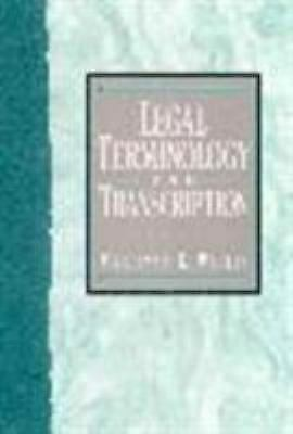 Legal Terminology and Transcription by Wallis, Marilynn K.
