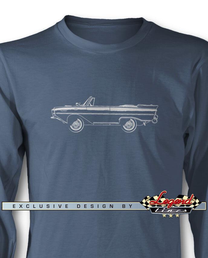 AMPHICAR Hans Trippel Long Sleeves T-Shirt - Multiple colors & Sizes German Car