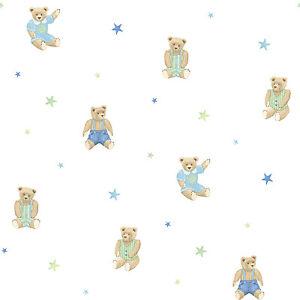 Essener-Tiny-Tots-g45159-Papel-pintado-Oso-de-estrellas-Peluche