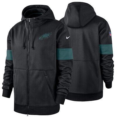wholesale dealer cc70a ef6d8 NEW Nike Philadelphia Eagles Sideline Performance Full-Zip Jacket Hoodie  NWT | eBay