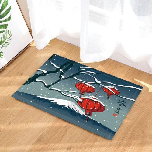"""Chinese Red Lantern New Year Bathroom Rug Non-Slip Floor Indoor Door Mat 16x24/"""""""