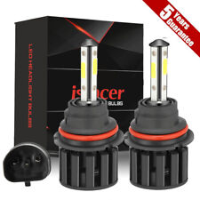 9007 Hb5 Cree Led Headlight Bulbs Conversion Kit High Low Beam 6000k Super White Fits Plymouth Breeze