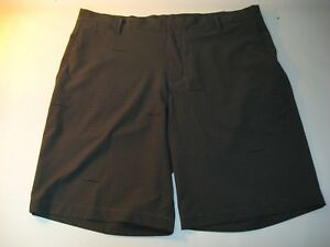 0c5a5cd616f4c9 Nike Golf Shorts Men s Black Gray Flat Front Stretch Casual - Size ...