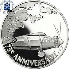 Frankreich 1,5 Euro Silbermünze 2002 PP Erster Atlantikflug: Charles Lindbergh