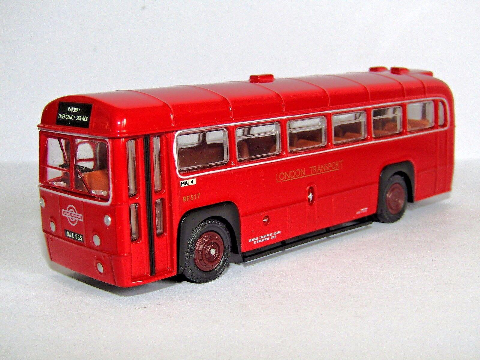 EFE AEC RF BUS LONDON TRANSPORT TRANSPORT TRANSPORT RAILWAY EMERGENCY SERVICE 1 76 WR02 LBRT CODE 3 4cf1dc
