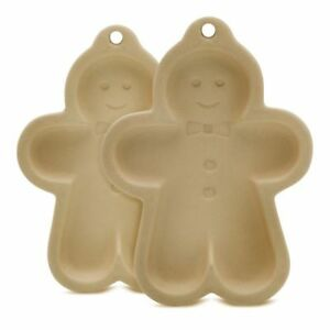Details About Set Of 2 Traditional Stone Gingerbread Men Biscuit Moulds By Kilo Bnib