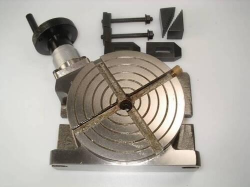 10.2cm 100 mm Drehtisch für Drehbank und Fräsmaschine von Chronos mit Klemmen