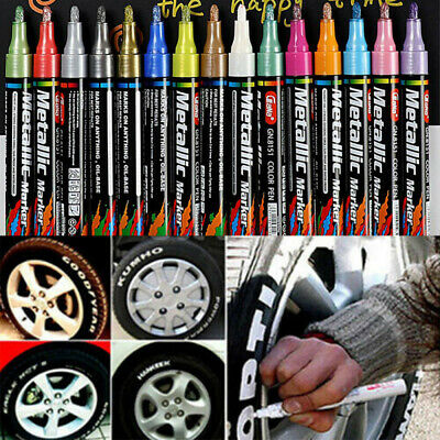 Gold Permanent Oil Based Paint Pen Car Bike Tyre Metal Marker waterproof