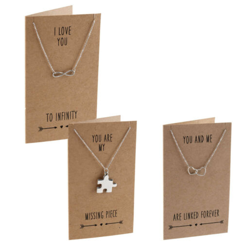 Message Card Envelope Love Sentiments Pewter Necklace Pendant Gift Idea