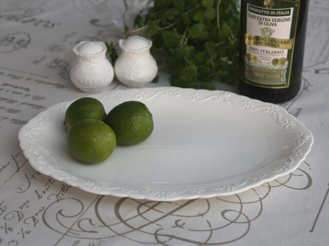 Chic Antique Provence Servierplatte, Schüssel oval Shabby Chic Deko