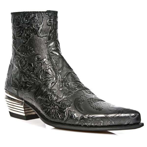 NewRock NewRock NewRock m.nw131 S1 Noir Exclusif New Rock Punk Gothique équitation bottes de cowboy pour homme bd2703