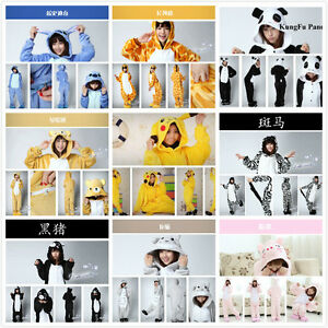 Hot-Unisex-Adultos-Cosplay-Kigurumi-Pijamas-Animal-Pijamas-Fancy-Traje-de-dormir
