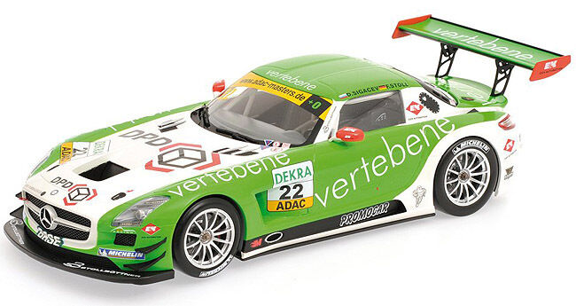 Minichamps 2011 Mercedes Benz SLS AMG GT3 Adac GT Masters MS Racing  22 1:18*Nuovo