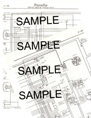 1974 PORSCHE 911 /& 911S 911 S 74 CHASSIS WIRING DIAGRAM CHART COLOR CODED