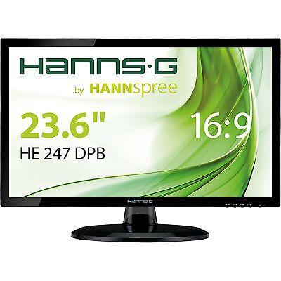 "HannsG HE247DPB, LED-Monitor, 60 cm (23,6""), hochglanzschwarz"