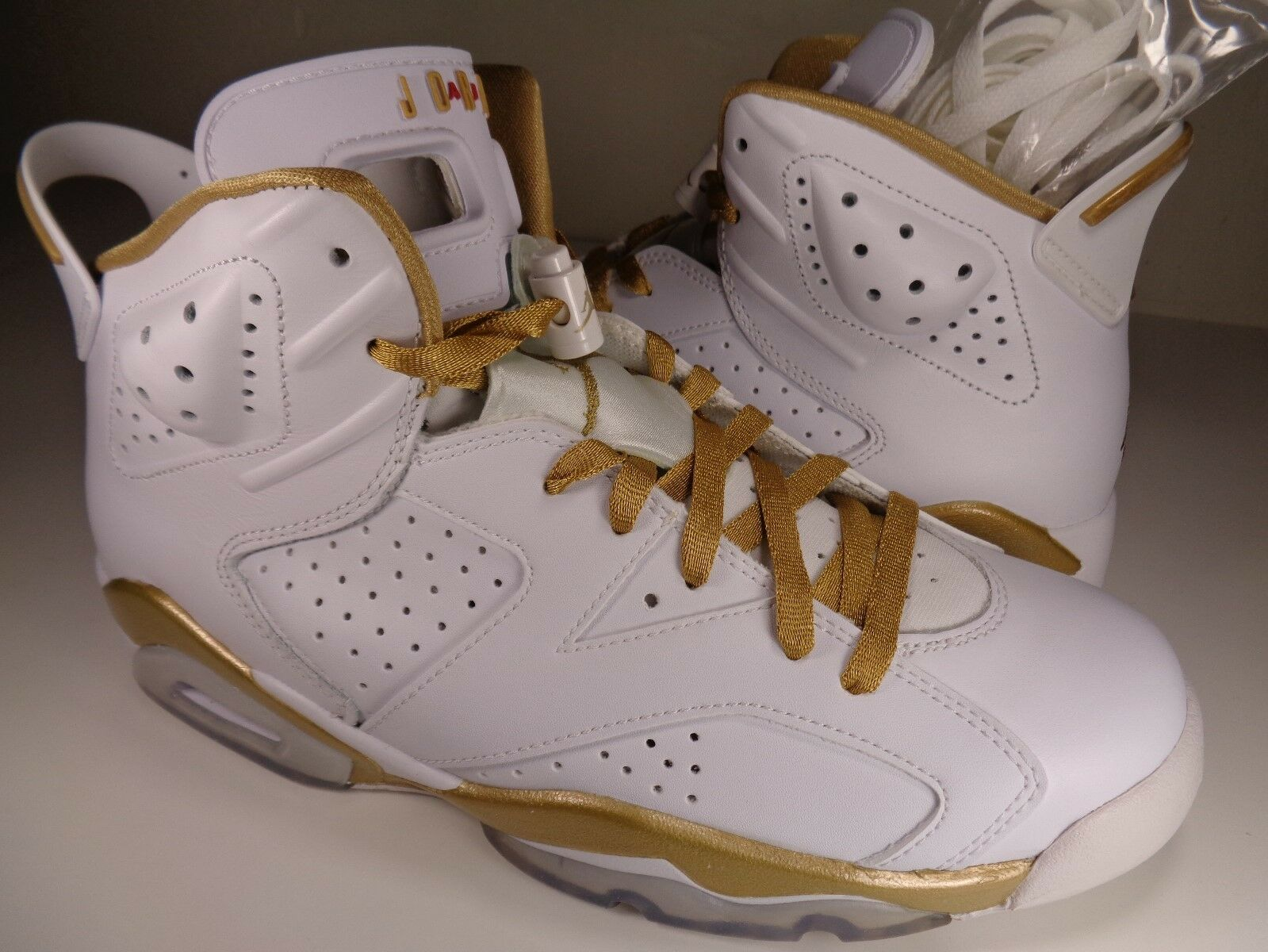 Nike Air Jordan 6 VI GMP golden Moments Package White gold SZ 9.5 (535357-935)