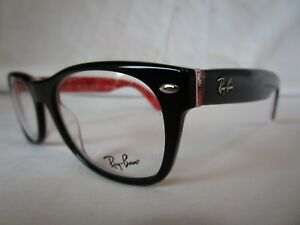 72f89efc4e RAY BAN NEW WAYFARER EYEGLASS FRAME RX5184 2479 BLACK 52-18-145 NEW ...