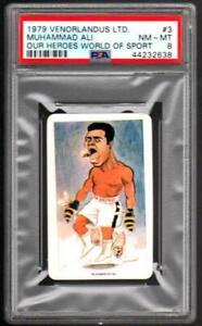1979-VENORLANDUS-MUHAMMAD-ALI-Boxing-Champion-Card-GRADED-PSA-8-NM-MT
