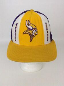 Vintage 80 s NFL Football Trucker Snapback Cap Hat Minnesota Vikings ... 66350e51edc6