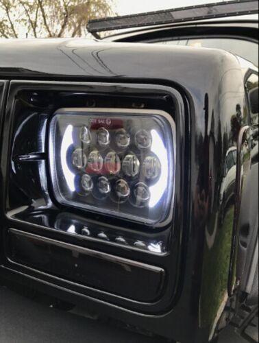 105W Osram 5x7/'/' 7x6/'/' LED Headlight Hi-Lo Beam Halo DRL For Jeep Cherokee XJ YJ